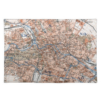 Vintage Map of Berlin Germany (1894) Cloth Placemat