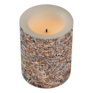Vintage Map of Berlin Germany (1894) Flameless Candle