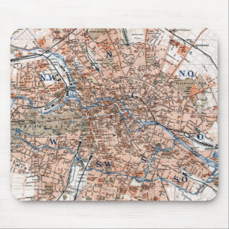 Vintage Map of Berlin Germany (1894) Mouse Pad