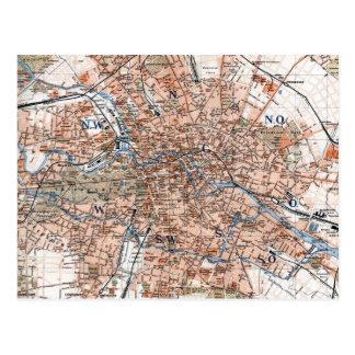 Vintage Map of Berlin Germany (1894) Postcard
