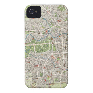 Vintage Map of Berlin Germany (1905) Case-Mate iPhone 4 Cases