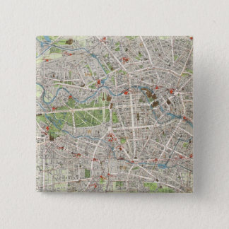 Vintage Map of Berlin Germany (1905) Pinback Button
