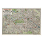 Vintage Map of Berlin Germany (1905) Poster