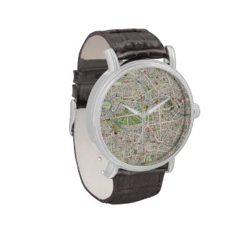 Vintage Map of Berlin Germany (1905) Wrist Watches
