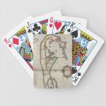 Vintage Map of Bermuda (1638) Bicycle Poker Cards