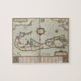 Vintage Map of Bermuda (1638) Jigsaw Puzzle