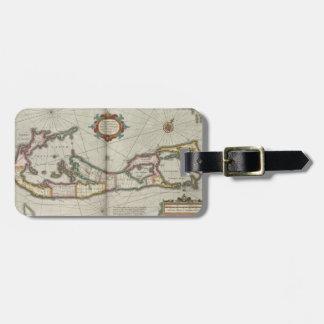 Vintage Map of Bermuda (1638) Luggage Tag