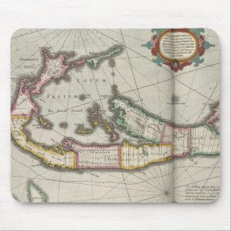 Vintage Map of Bermuda (1638) Mouse Pad