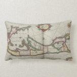 Vintage Map of Bermuda (1638) Pillows