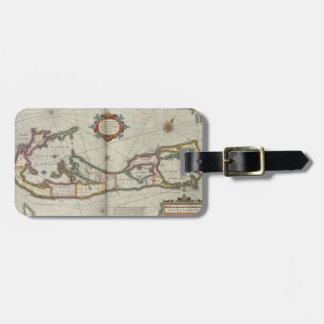 Vintage Map of Bermuda (1638) Tag For Bags