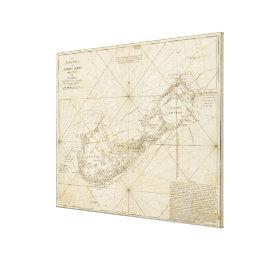 Vintage Map of Bermuda (1788) Canvas Print