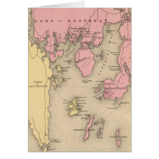 Vintage Map of Boothbay Maine (1894) Greeting Card