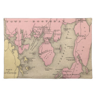 Vintage Map of Boothbay Maine (1894) Cloth Placemat
