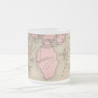 Vintage Map of Boothbay Maine (1894) Frosted Glass Coffee Mug