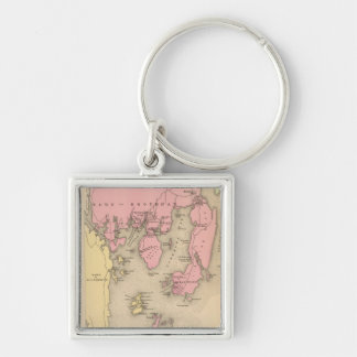 Vintage Map of Boothbay Maine (1894) Keychain