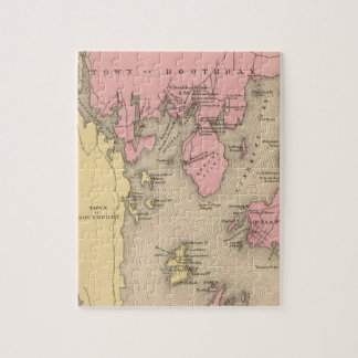 Vintage Map of Boothbay Maine (1894) Puzzle