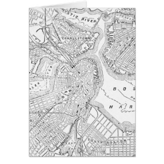 Vintage Map of Boston (1878) Card