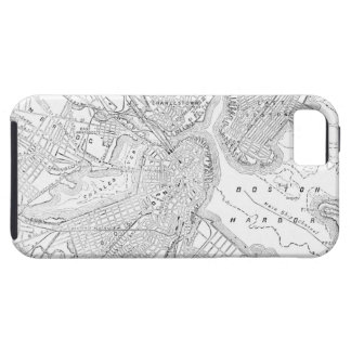 Vintage Map of Boston (1878) iPhone 5 Cases