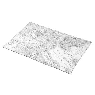 Vintage Map of Boston (1878) Cloth Placemat