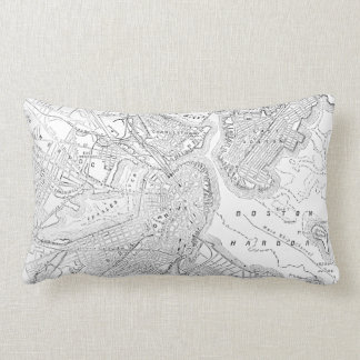 Vintage Map of Boston (1878) Lumbar Pillow