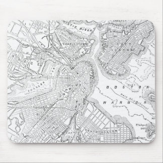 Vintage Map of Boston (1878) Mouse Pad