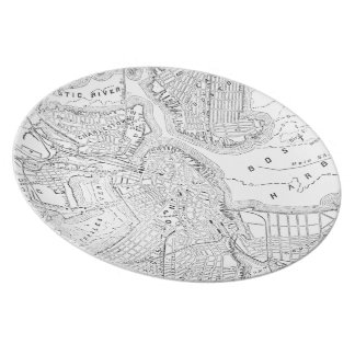 Vintage Map of Boston (1878) Party Plate