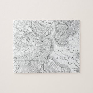 Vintage Map of Boston 1878 Jigsaw Puzzle