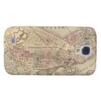 Vintage Map of Boston (1880) Samsung Galaxy S4 Covers