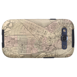 Vintage Map of Boston (1880) Samsung Galaxy S3 Covers