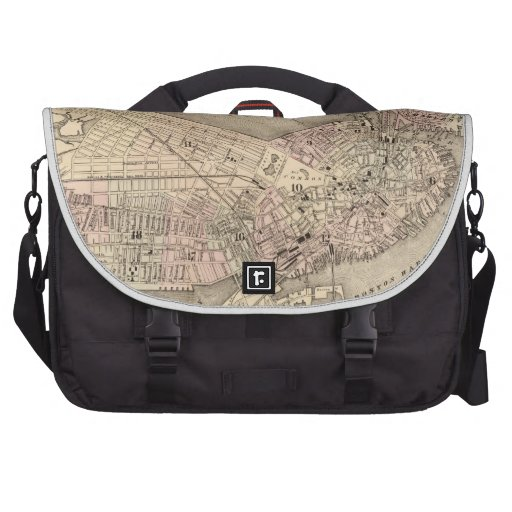 Vintage Map of Boston (1880) Commuter Bags