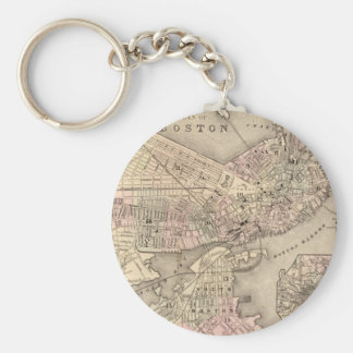 Vintage Map of Boston (1880) Keychain