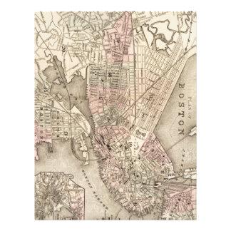 Vintage Map of Boston (1880) Letterhead