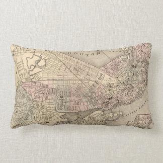 Vintage Map of Boston (1880) Lumbar Pillow