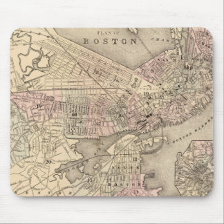 Vintage Map of Boston (1880) Mouse Pad