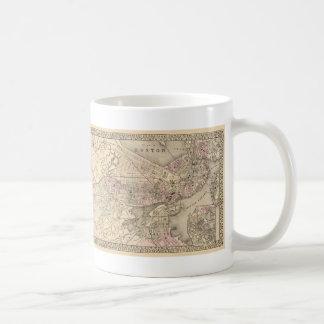 Vintage Map of Boston (1880) Coffee Mugs