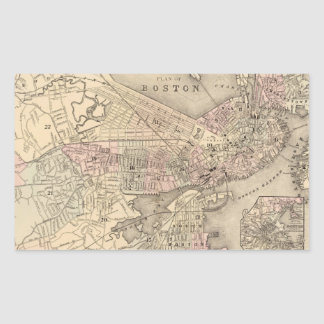 Vintage Map of Boston (1880) Sticker