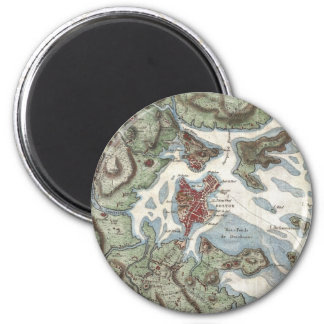 Vintage Map of Boston Harbor (1807) 2 Inch Round Magnet