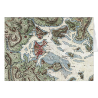 Vintage Map of Boston Harbor (1807) Card