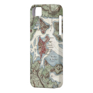 Vintage Map of Boston Harbor (1807) iPhone 5 Cases