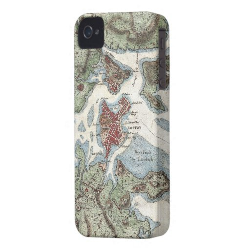 Vintage Map of Boston Harbor (1807) iPhone 4 Case-Mate Case