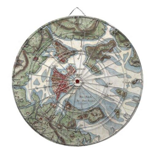 Vintage Map of Boston Harbor (1807) Dart Board