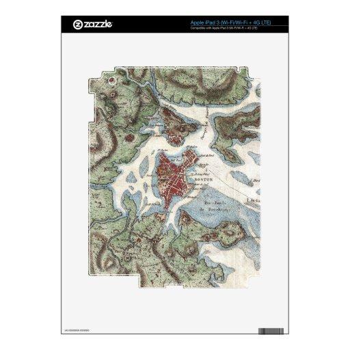 Vintage Map of Boston Harbor (1807) iPad 3 Decal