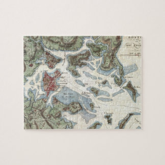 Vintage Map of Boston Harbor (1807) Jigsaw Puzzle
