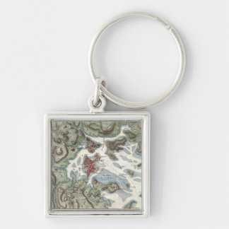 Vintage Map of Boston Harbor (1807) Keychain