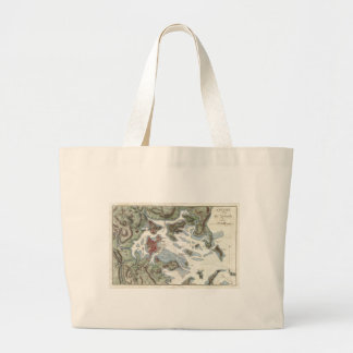 Vintage Map of Boston Harbor (1807) Large Tote Bag