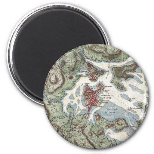 Vintage Map of Boston Harbor (1807) Magnets