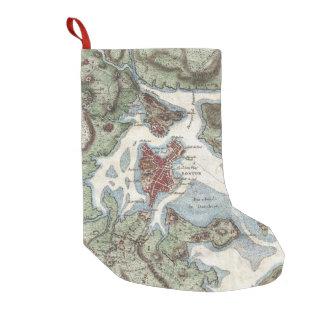 Vintage Map of Boston Harbor (1807) Small Christmas Stocking
