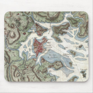 Vintage Map of Boston Harbor (1807) Mouse Pad