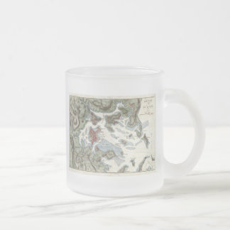 Vintage Map of Boston Harbor (1807) 10 Oz Frosted Glass Coffee Mug