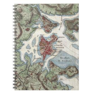 Vintage Map of Boston Harbor (1807) Spiral Notebook